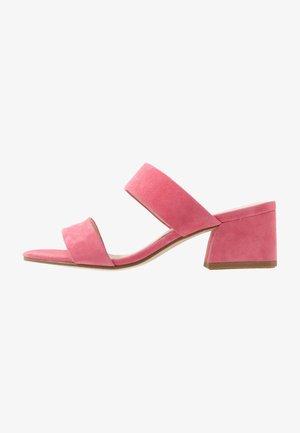 ELENA - Mules à talons - candy pink