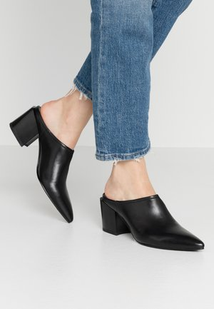ADRIANNA - Heeled mules - black