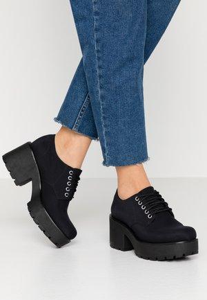 DIOON - Šněrovací boty - black