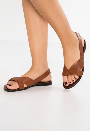 TIA - Sandals - cognac