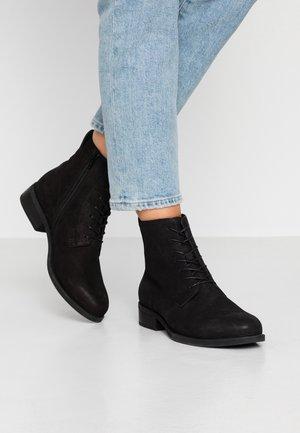 CARY - Šněrovací kotníkové boty - black