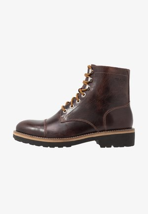 BRUCE - Lace-up ankle boots - dark brandy