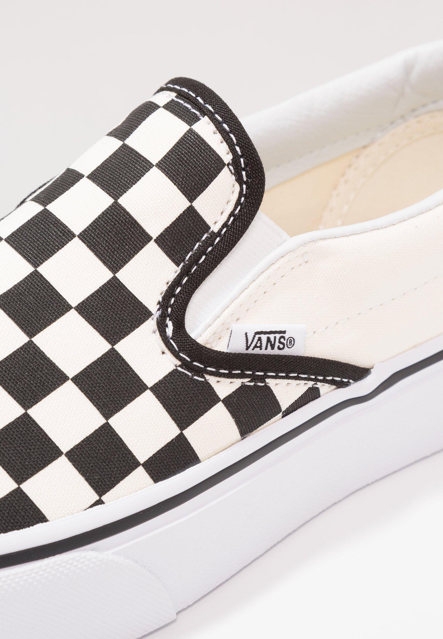 Vans CLASSIC PLATFORM - Półbuty wsuwane - black/white