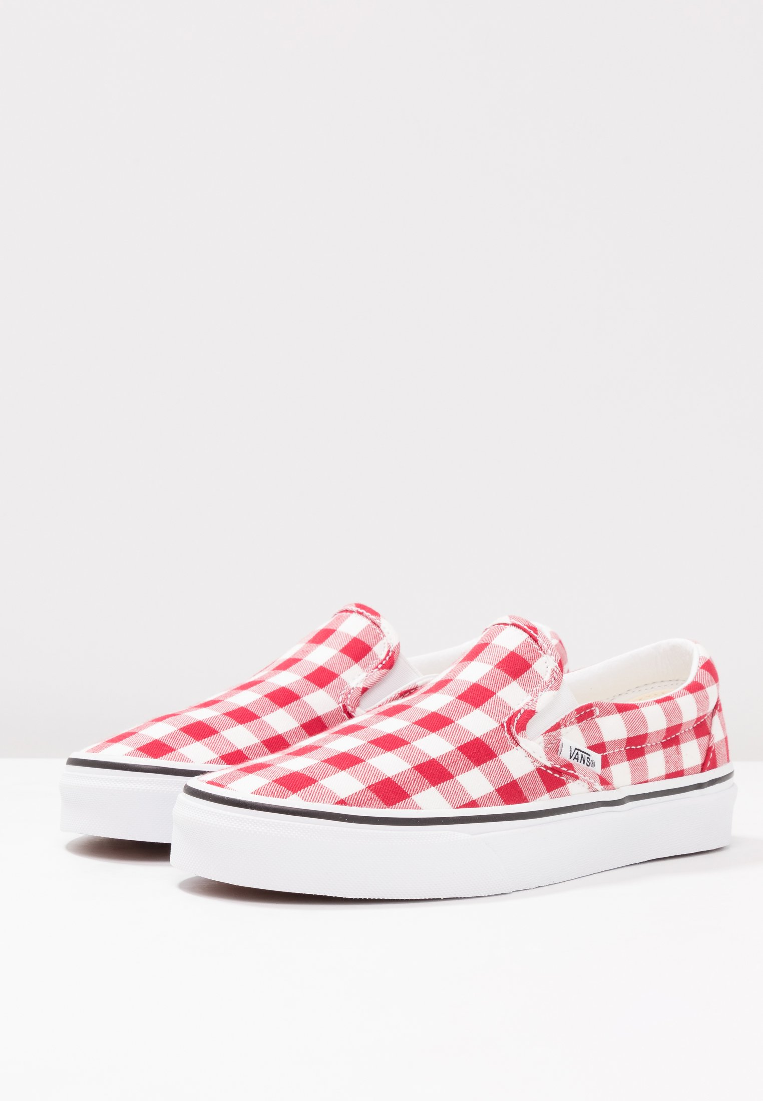 White Racing Vans ClassicMocassins Red true b76fgy