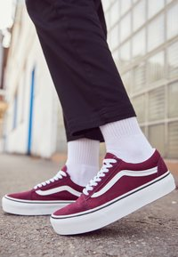 Vans - OLD SKOOL PLATFORM - Sneakers basse - port royale/true white - 4