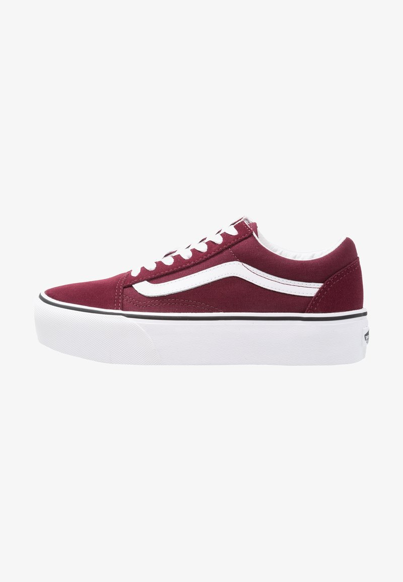 Vans - OLD SKOOL PLATFORM - Sneakers basse - port royale/true white