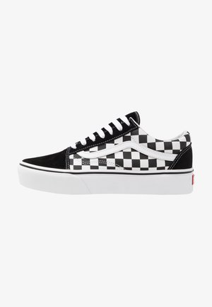 OLD SKOOL PLATFORM - Baskets basses - black/white