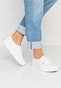 Vans - AUTHENTIC PLATFORM - Skate shoes - gray lilac/marshmallow/true white - 0
