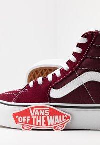 Vans - SK8 PLATFORM  - Zapatillas altas - burgundy/true white - 7