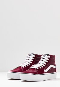 Vans - SK8 PLATFORM  - Zapatillas altas - burgundy/true white - 4