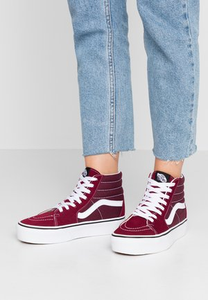 SK8 PLATFORM  - Baskets montantes - burgundy/true white