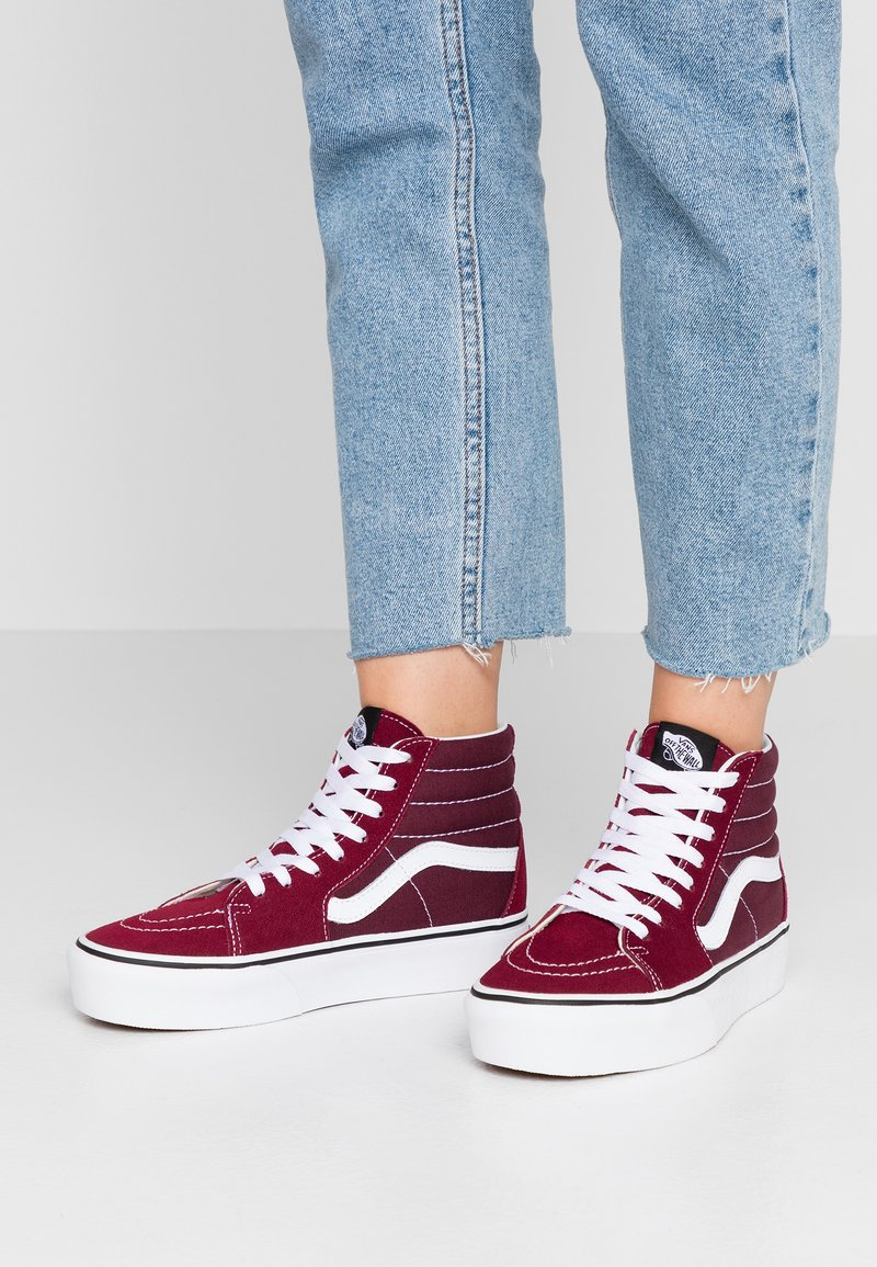 Vans - SK8 PLATFORM  - Zapatillas altas - burgundy/true white