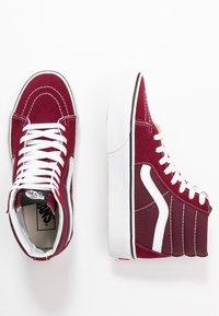 Vans - SK8 PLATFORM  - Zapatillas altas - burgundy/true white - 3