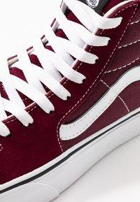 Vans - SK8 PLATFORM  - Zapatillas altas - burgundy/true white - 2