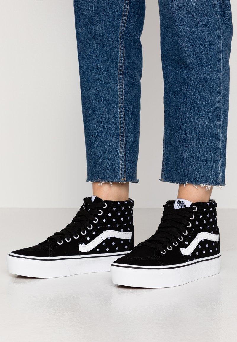 Vans - SK8 PLATFORM  - Sneakers hoog - black/true white