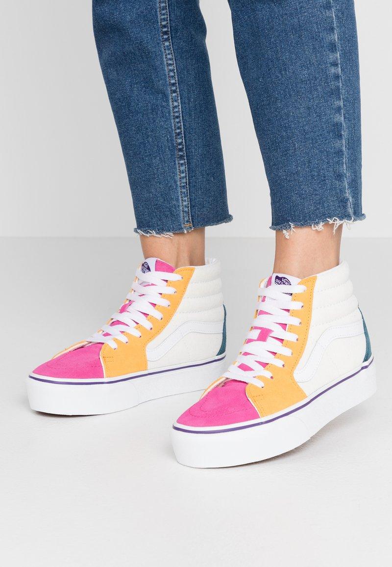 Vans - SK8 PLATFORM  - Zapatillas altas - multicolor/true white