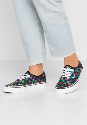 AUTHENTIC - Sneakersy niskie - iridescent check/black/true white