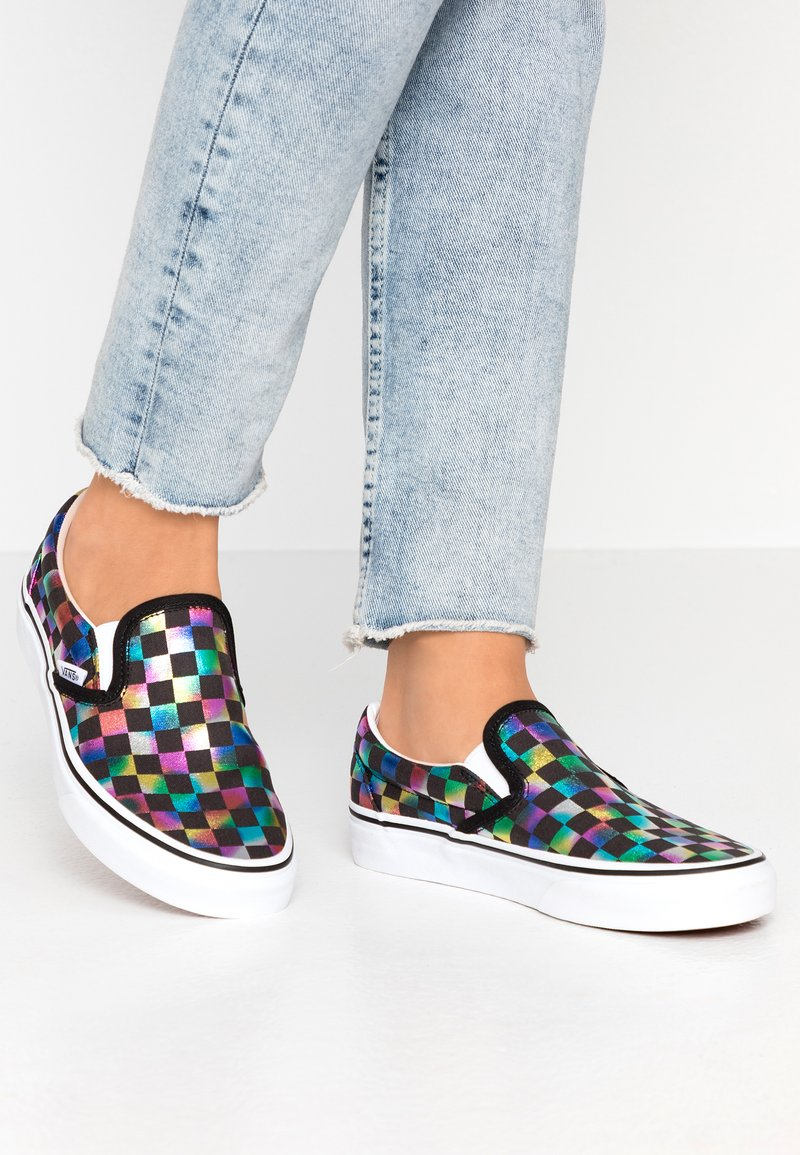Vans - CLASSIC - Loaferit/pistokkaat - iridescent/black/true white