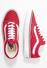 Vans - OLD SKOOL - Trainers - racing red/true white - 3