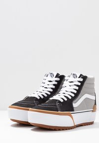 Vans - SK8 STACKED - High-top trainers - drizzle/true white - 4