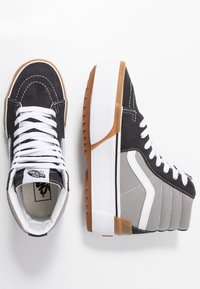 Vans - SK8 STACKED - High-top trainers - drizzle/true white - 3