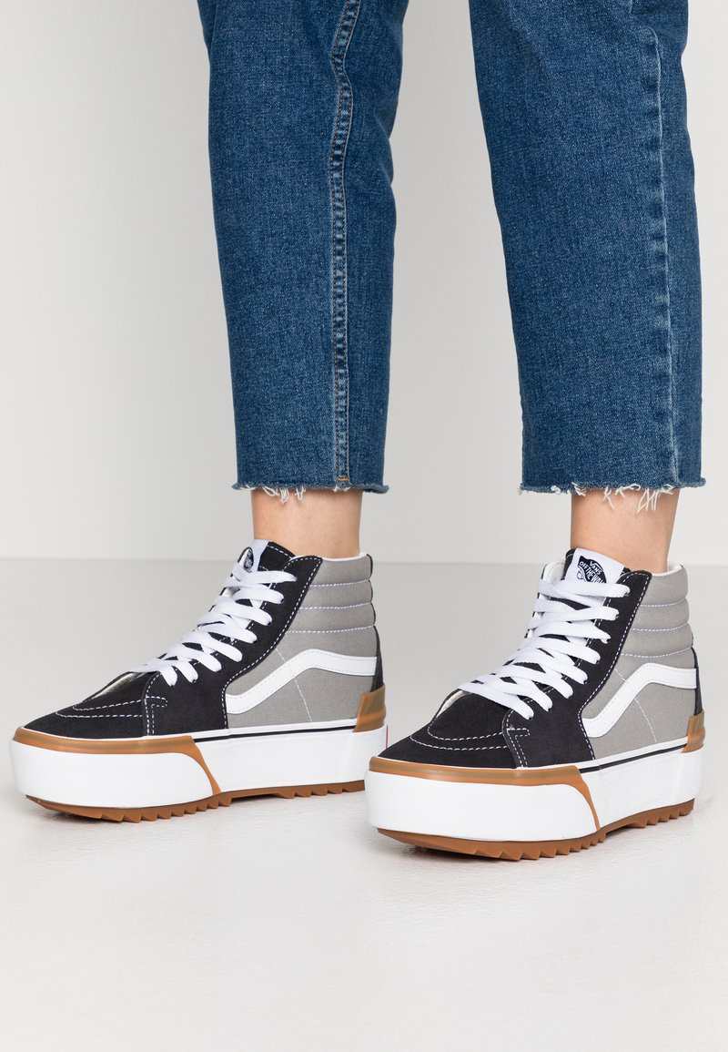 Vans - SK8 STACKED - High-top trainers - drizzle/true white