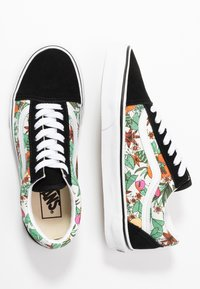 Vans - OLD SKOOL - Matalavartiset tennarit - multicolor/black/true white - 3