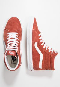 Vans - SK8 - High-top trainers - burnt brick/true white - 1