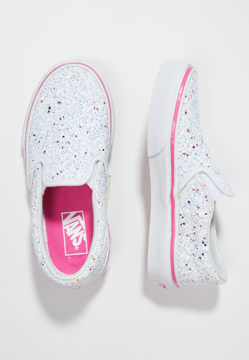 Vans - CLASSIC SLIP-ON - Slipper - glitter stars true white/carmine rose