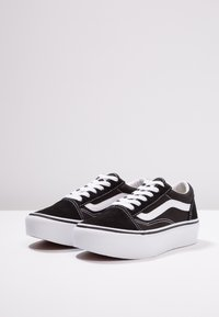 Vans - OLD SKOOL PLATFORM - Trainers - black/true white - 3