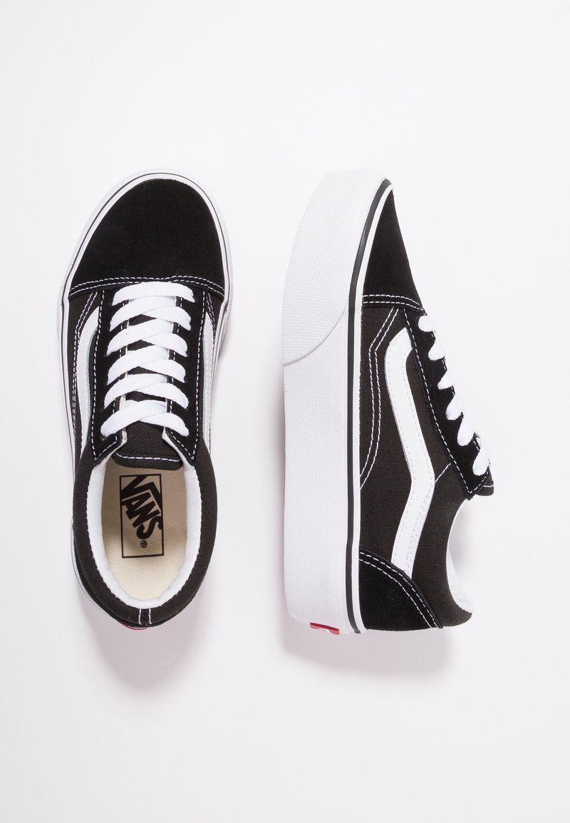 Vans - OLD SKOOL PLATFORM - Matalavartiset tennarit - black/true white