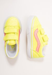Vans - OLD SKOOL - Sneakers basse - neon glitter yellow/true white - 0