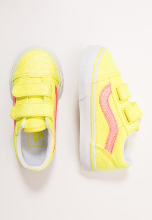 OLD SKOOL - Baskets basses - neon glitter yellow/true white