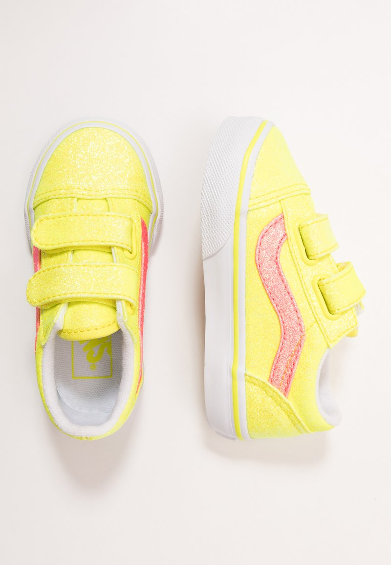 Vans - OLD SKOOL - Sneakers basse - neon glitter yellow/true white