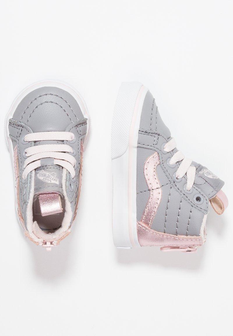 Vans - SK8 ZIP - Sneakers hoog - metallic/alloy/heavenly pink