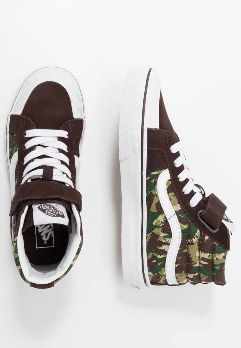 Vans - SK8 REISSUE - Zapatillas altas - brown/true white