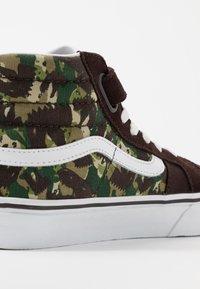 Vans - SK8 REISSUE - Zapatillas altas - brown/true white - 2