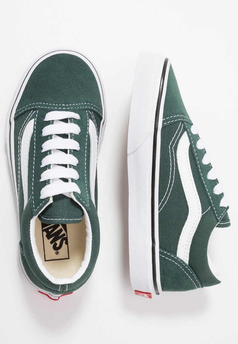 Vans - OLD SKOOL - Sneakers basse - trekking green/true white
