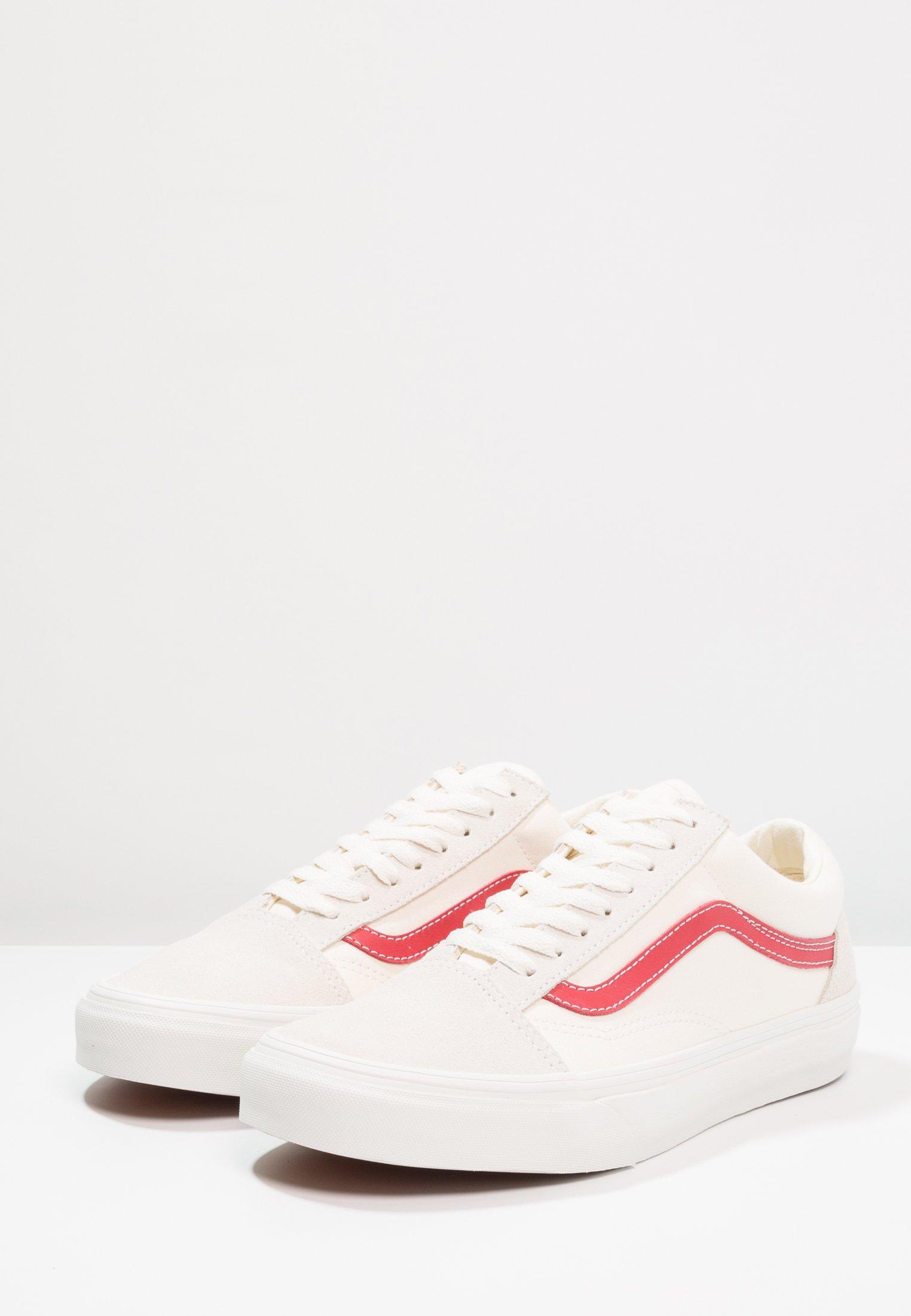 UA OLD SKOOL Baskets basses vintage whiterococco red