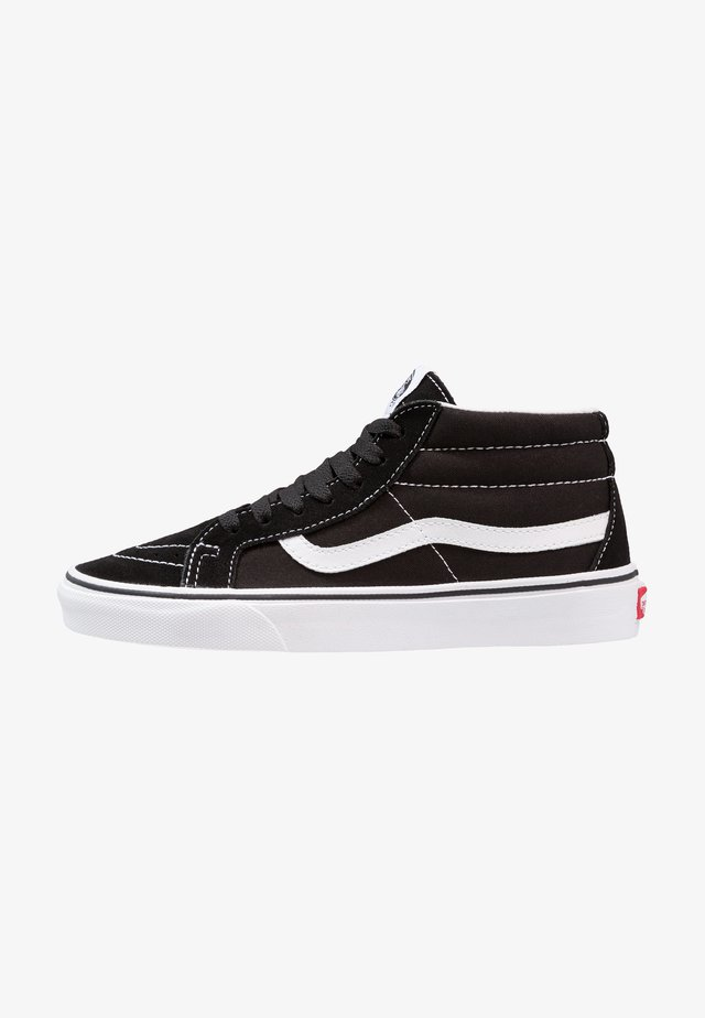 UA SK8-MID REISSUE - Korkeavartiset tennarit - black/true white