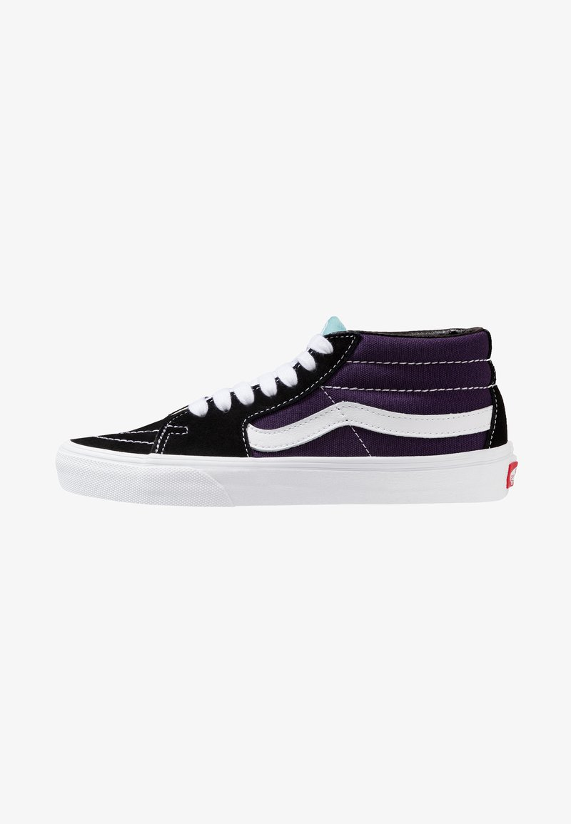 Vans - SK8 MID - Chaussures de skate - black/mysterioso