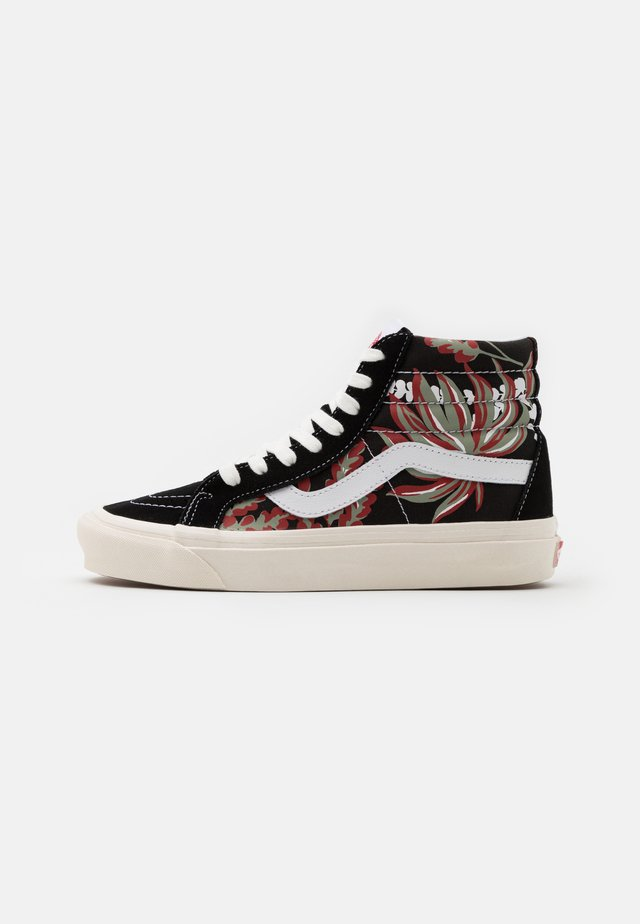 SK8 38 DX UNISEX - Sneakers alte - black/yellow/red