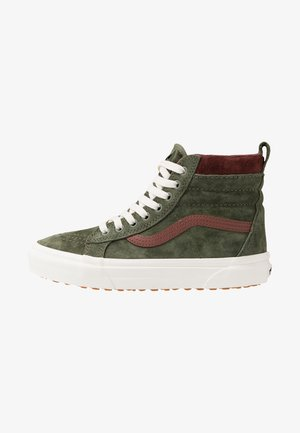 SK8 MTE - Korkeavartiset tennarit - deep lichen green/root beer