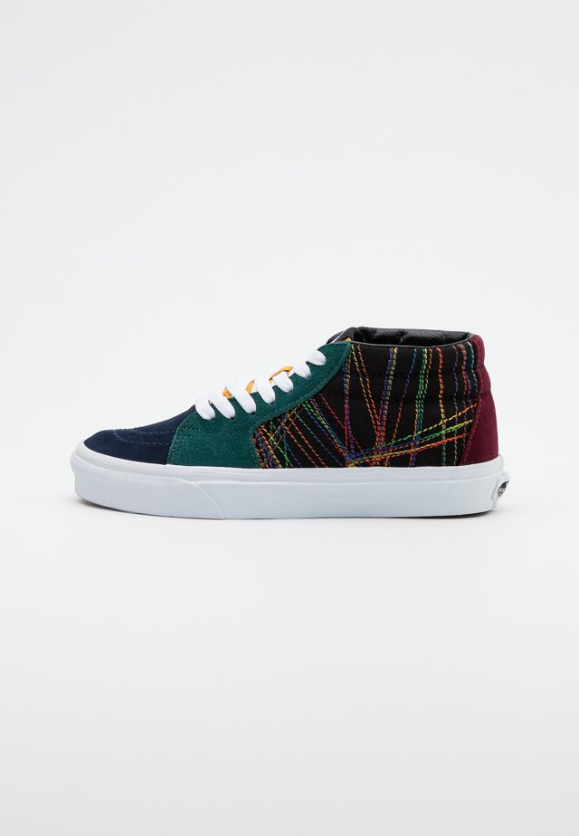 SK8-MID - Korkeavartiset tennarit - dark rainbow