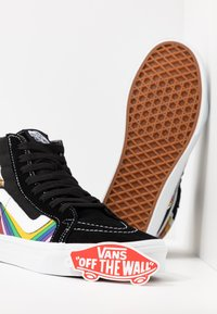Vans - SK8 REISSUE - Zapatillas skate - black/true white/multicolor - 5