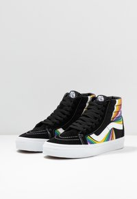 Vans - SK8 REISSUE - Zapatillas skate - black/true white/multicolor - 2