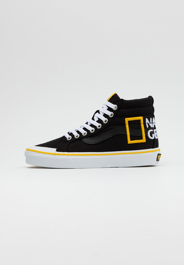 SK8 REISSUE - Korkeavartiset tennarit - black/yellow/multicolor