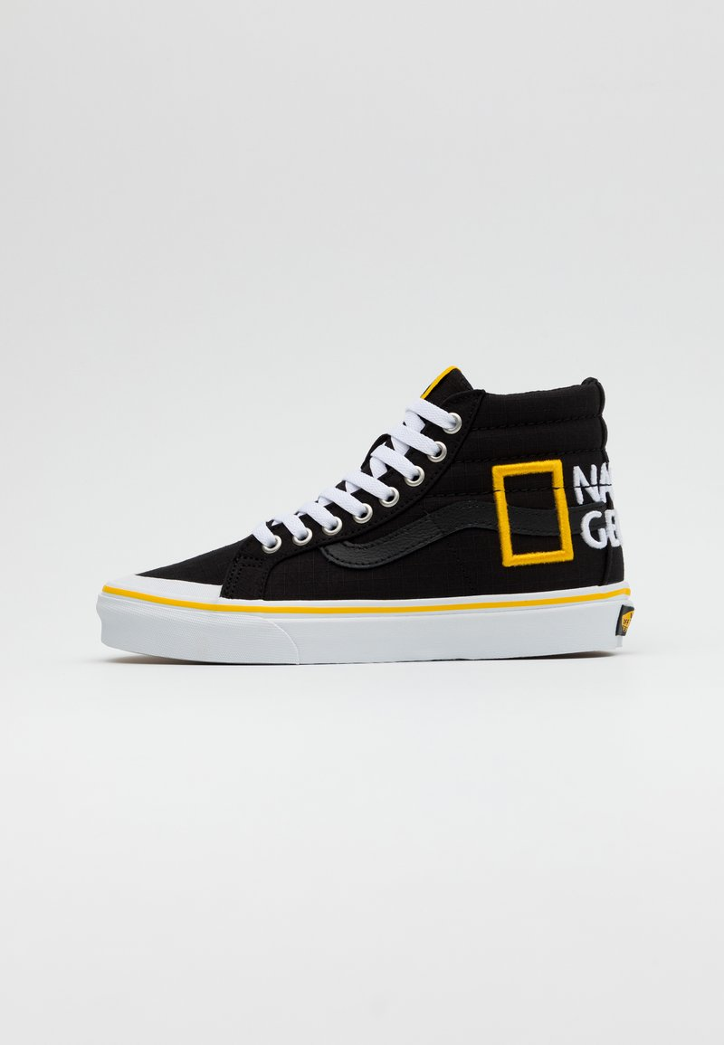 Vans - SK8 REISSUE - High-top trainers - black/yellow/multicolor