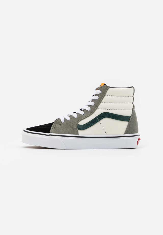 SK8-HI - Korkeavartiset tennarit - antique white/bistro green