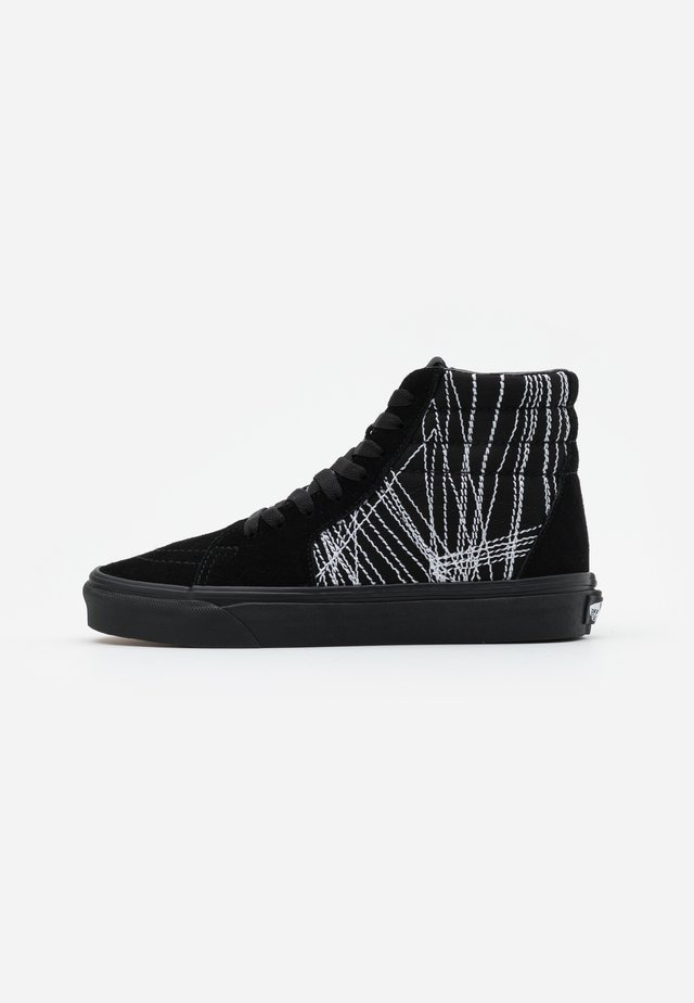 SK8-HI - Korkeavartiset tennarit - black/true white